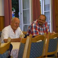 Ex-OB Rudi Köppler und SPD-Geschäftsführer Guido Berning