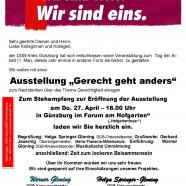 """Ausstellung """"Gerecht geht anders"""""""