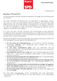 Beschluss TTIP