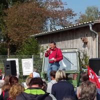 SPD-Kreisvorsitzender Achim Fißl auf der Demo für ein buntes Bayern
